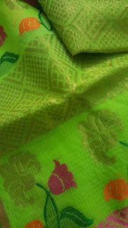 closeup-kota-saree-green